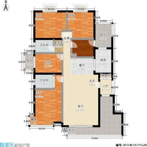 申奥美域5室1厅2卫1厨170.00㎡户型图