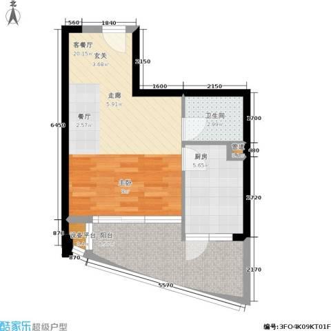 我平方1厅1卫1厨37.86㎡户型图