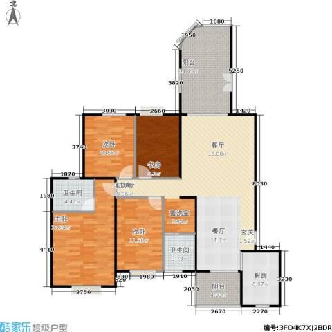 未来海岸系天心岛4室1厅2卫1厨168.00㎡户型图