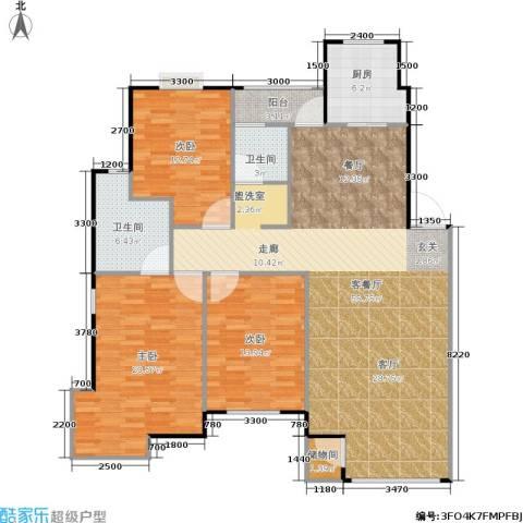中冶东山庭院3室1厅2卫1厨220.00㎡户型图