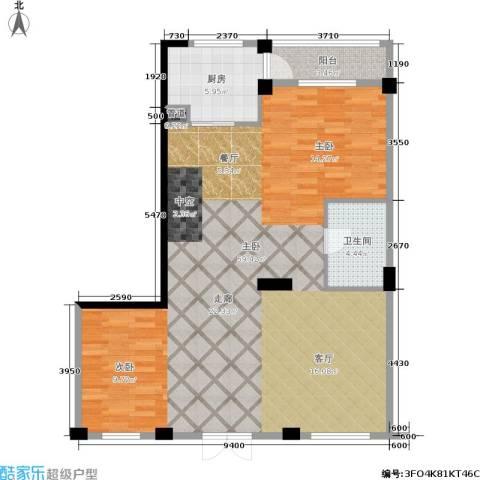 华锦铭苑1室0厅1卫1厨96.00㎡户型图