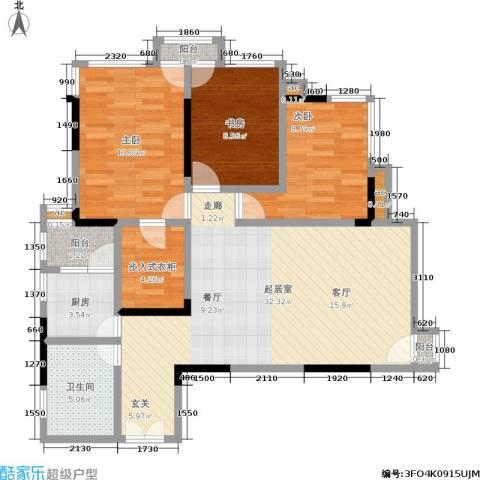 邦兴北都3室0厅1卫1厨92.00㎡户型图