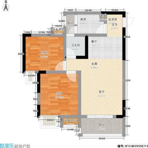 纳帕溪谷2室0厅1卫1厨81.00㎡户型图