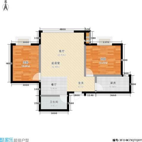 长房馨域2室0厅1卫1厨92.00㎡户型图
