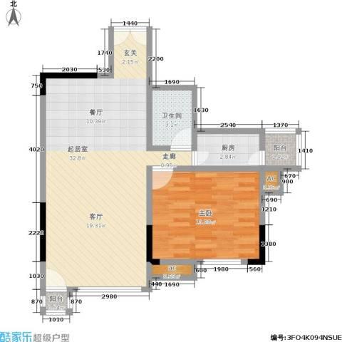 邦兴北都1室0厅1卫1厨63.00㎡户型图