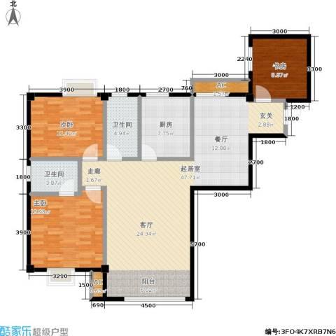 长房馨域3室0厅2卫1厨132.00㎡户型图