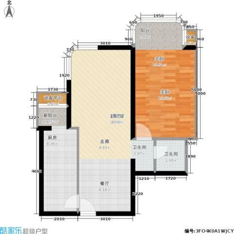 广信嘉园1室0厅1卫1厨86.00㎡户型图