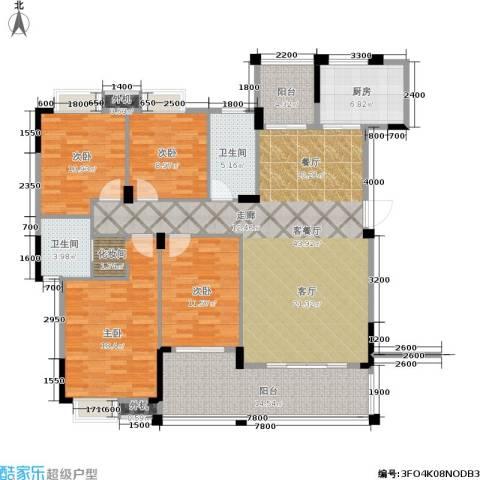 保利花园三期4室1厅2卫1厨149.00㎡户型图