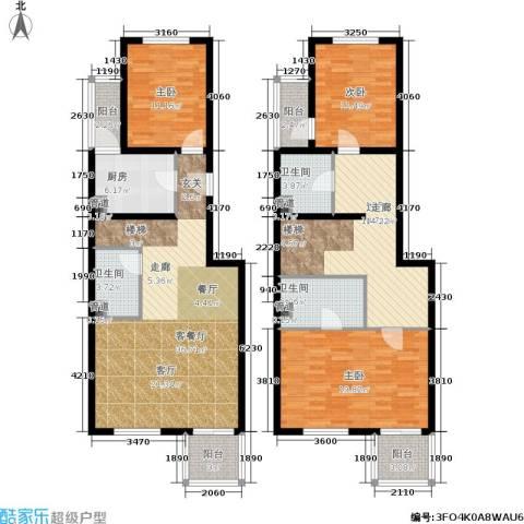 陶然湖景3室1厅3卫1厨147.00㎡户型图