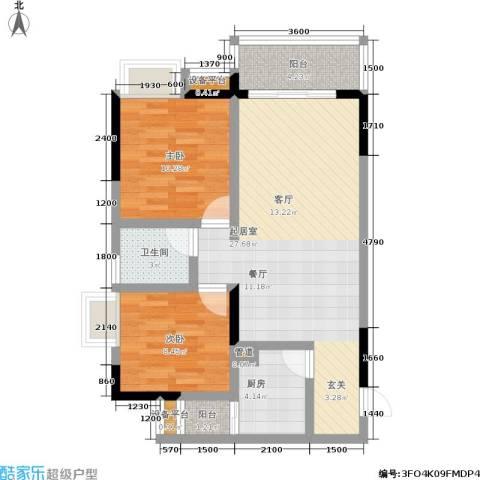 纳帕溪谷2室0厅1卫1厨70.00㎡户型图