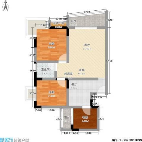 龙脊万兴家园3室0厅1卫0厨66.00㎡户型图
