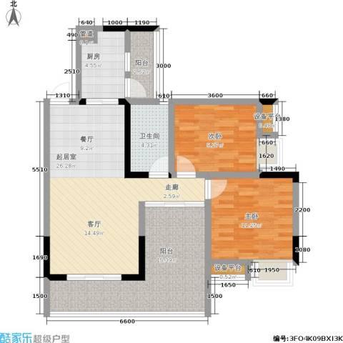 纳帕溪谷2室0厅1卫1厨110.00㎡户型图
