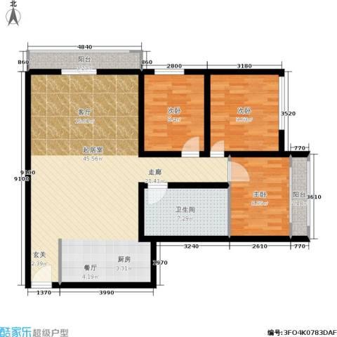 千禧大厦3室0厅1卫0厨96.00㎡户型图