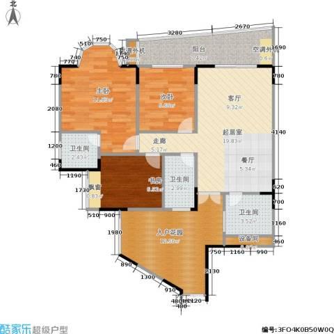 达飞绿洲3室0厅3卫0厨82.00㎡户型图