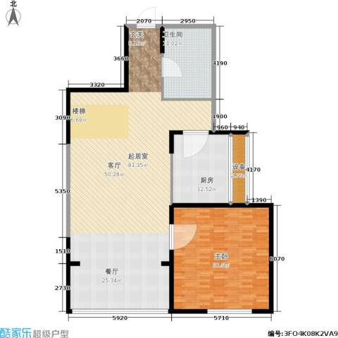 嘉业阳光城1室0厅1卫1厨152.00㎡户型图