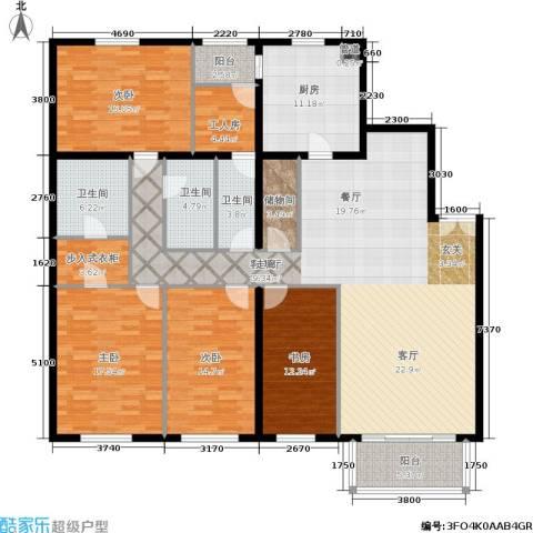 陶然湖景4室1厅3卫1厨181.00㎡户型图