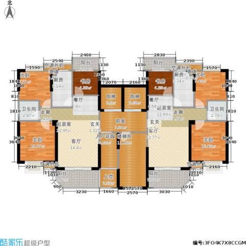 新景翡翠苑6室0厅2卫2厨157.60㎡户型图