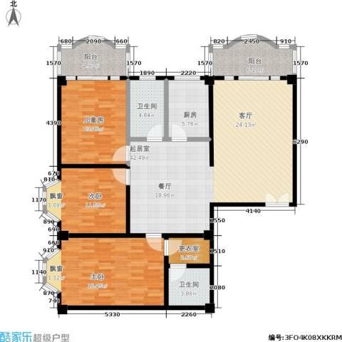 名城雅居3室0厅2卫1厨161.00㎡户型图