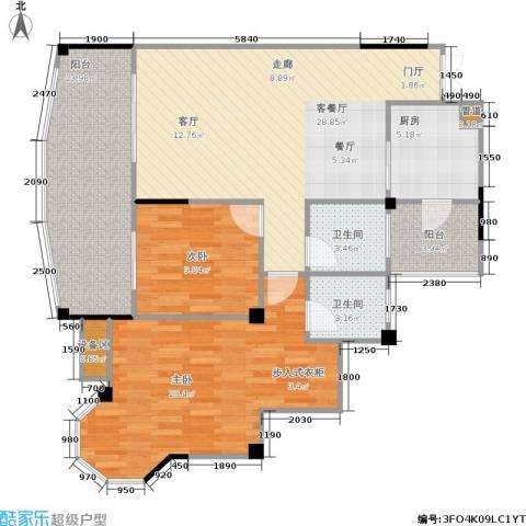 圣豪帝景2室1厅2卫1厨121.00㎡户型图