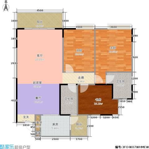 港韵新苑3室0厅2卫1厨138.00㎡户型图