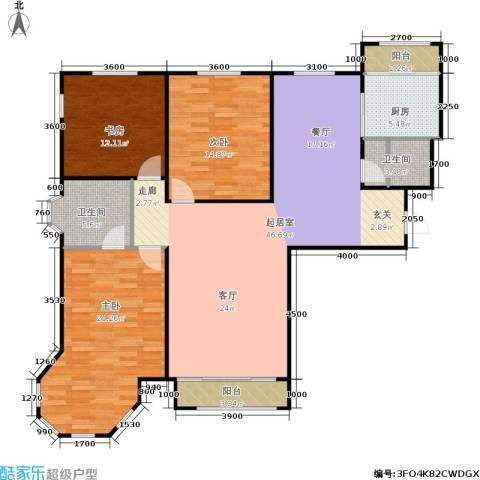 金水花城二期3室0厅2卫1厨140.00㎡户型图