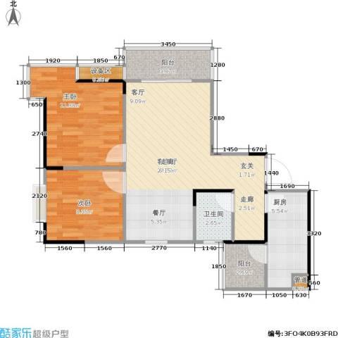 顺盛雅苑2室1厅1卫1厨67.00㎡户型图
