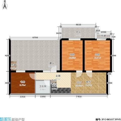金源花园3室0厅1卫0厨129.00㎡户型图