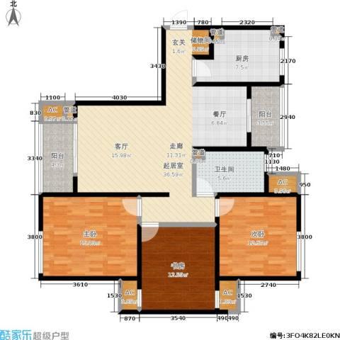 阳光美地3室0厅1卫1厨117.00㎡户型图