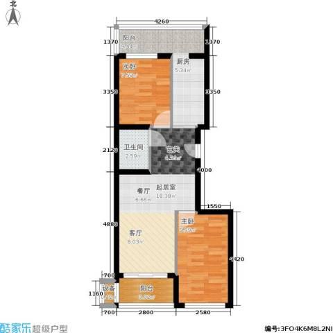 财富天地2室0厅1卫0厨60.00㎡户型图