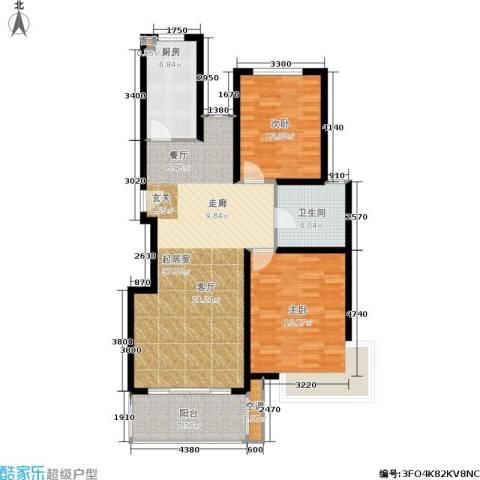 金都名苑2室0厅1卫1厨87.30㎡户型图