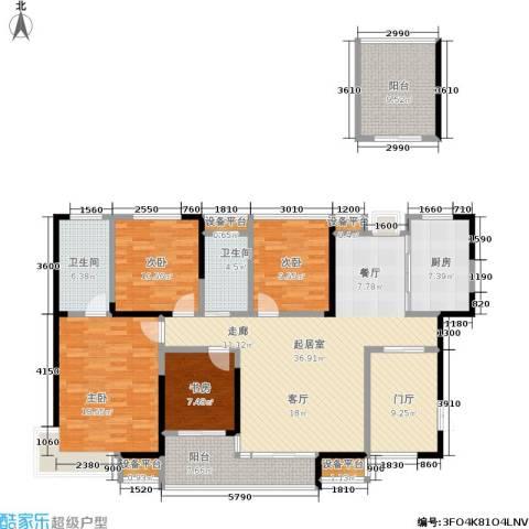 锑都家园4室0厅2卫1厨140.00㎡户型图