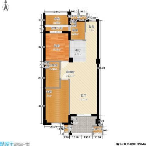 香槟水郡2室1厅1卫1厨79.00㎡户型图