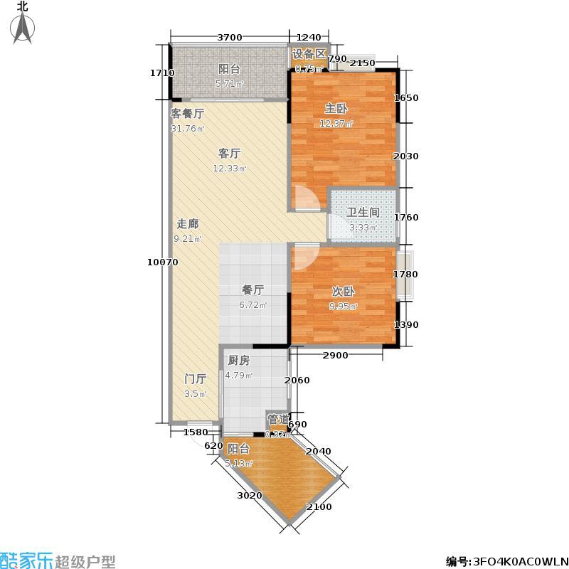 明发尚都国际2号楼A42号房6258户型