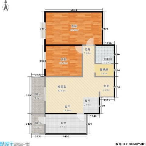 相来家园2室0厅1卫1厨90.00㎡户型图