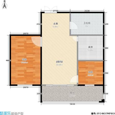 锋华城2室0厅1卫1厨78.00㎡户型图