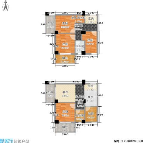 都会995室0厅2卫0厨89.55㎡户型图