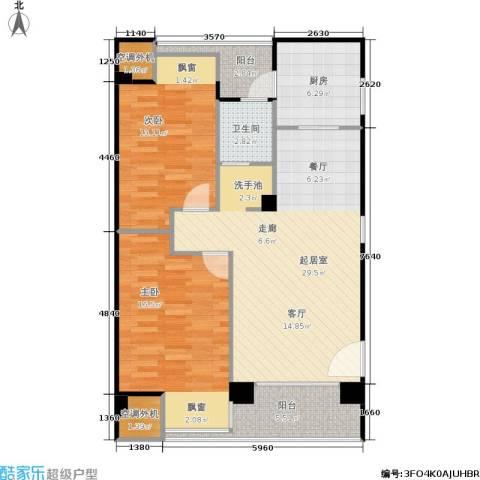 荣安琴湾2室0厅1卫1厨109.00㎡户型图