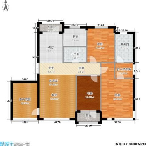 全统・西山丽水3室0厅2卫1厨157.00㎡户型图