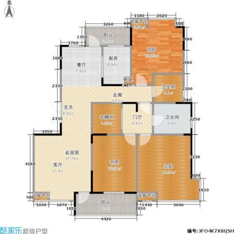 嘉业阳光城3室0厅2卫1厨132.00㎡户型图