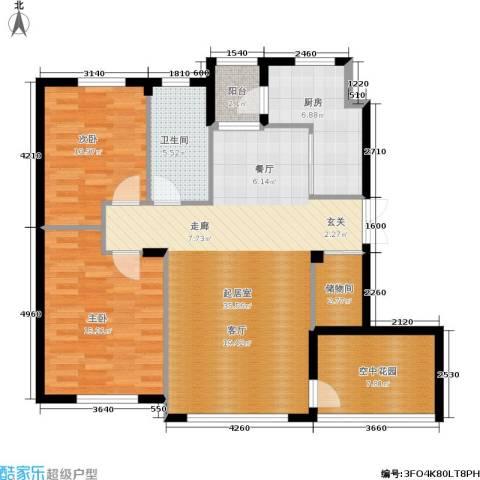 全统・西山丽水2室0厅1卫1厨122.00㎡户型图