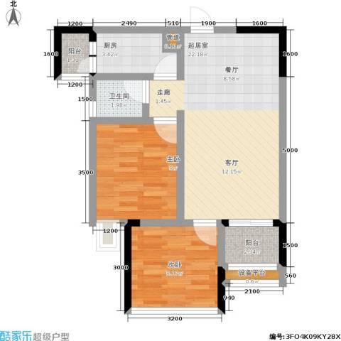 纳帕溪谷2室0厅1卫1厨55.00㎡户型图