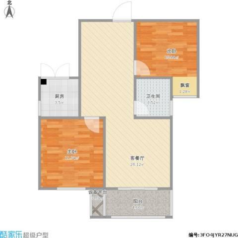 光盛豪庭2室1厅1卫1厨83.00㎡户型图