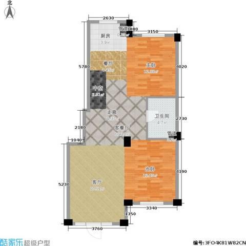 华锦铭苑1厅1卫0厨76.00㎡户型图