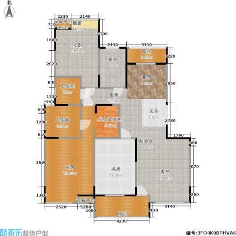 嘉业阳光城3室0厅2卫1厨119.85㎡户型图