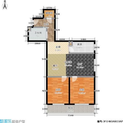 丽景苑2室0厅1卫1厨97.00㎡户型图