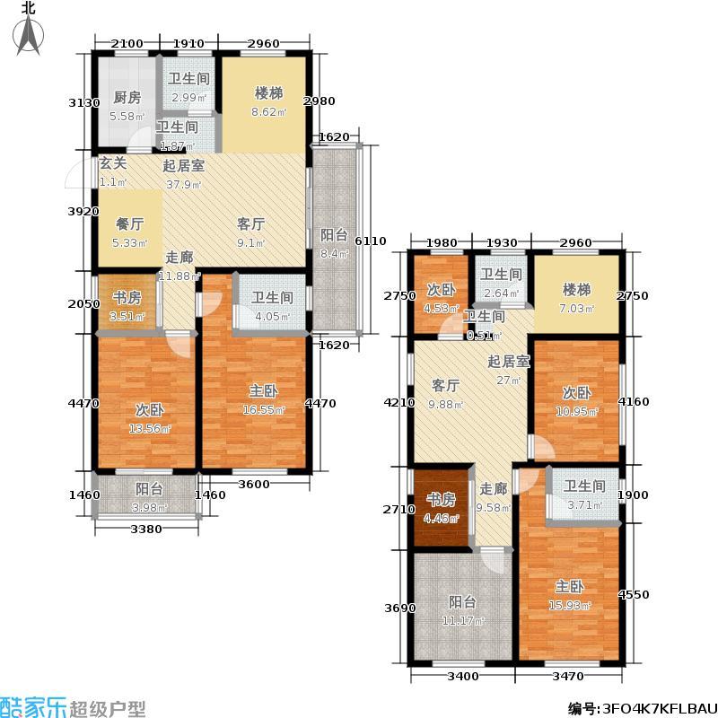 德信・湖滨1号189跃层户型7室3厅4卫