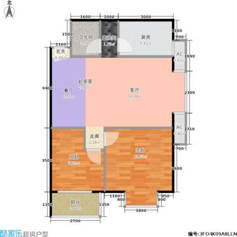 考拉社区2室0厅1卫1厨87.00㎡户型图