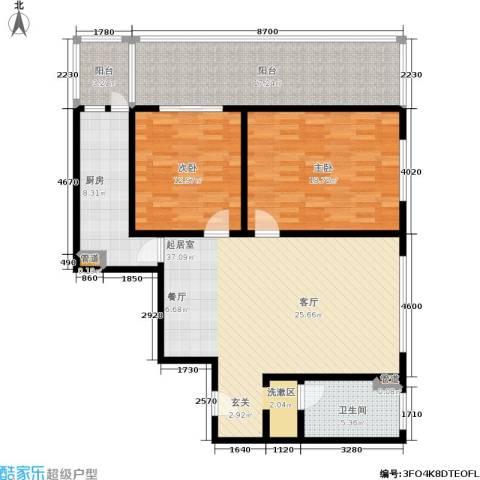 国电中兴嘉园2室0厅1卫1厨116.00㎡户型图
