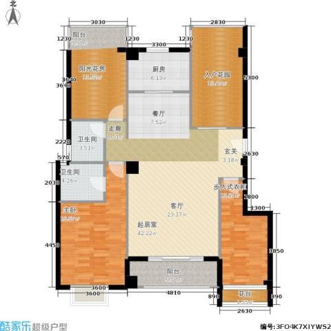 禹洲城上城1室0厅2卫1厨164.00㎡户型图