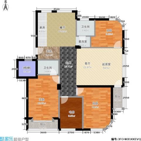 水岸花都4室0厅2卫0厨153.00㎡户型图